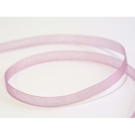 1 m of organza ribbon (6 mm) - Dusky pink  - 1