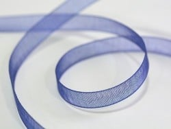 1 m de ruban organza 6 mm - bleu de minuit  - 1