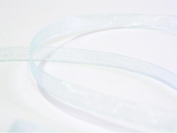 Acheter 1 m de ruban organza 6 mm - bleu pâle - 0,39€ en ligne sur La Petite Epicerie - 100% Loisirs créatifs
