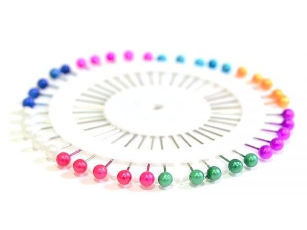 Assortiment de 40 jolies épingles colorées