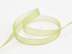 1 m de ruban organza 6 mm - vert olive