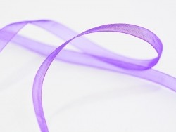 1 m of organza ribbon (6 mm) - Plum  - 1
