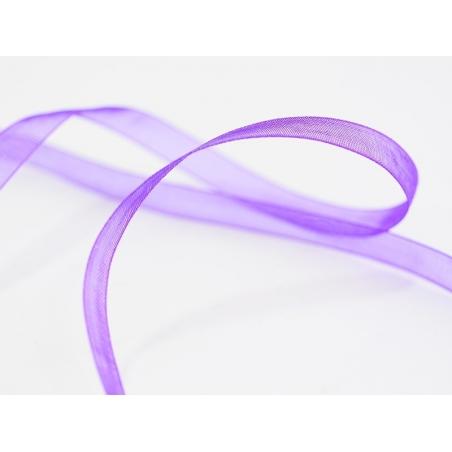 1 m of organza ribbon (6 mm) - Plum  - 1