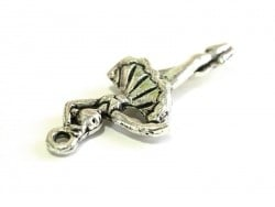 1 dancer / ballerina charm - silver-coloured