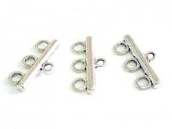 Acheter 1 Breloque intercalaire 3 rangs 21mm - argentée - 0,69€ en ligne sur La Petite Epicerie - Loisirs créatifs