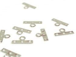Acheter 1 Breloque intercalaire 3 rangs 14mm - argentée - 0,19€ en ligne sur La Petite Epicerie - Loisirs créatifs