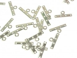 1 spacer charm, 4 holes, 19 mm - silver-coloured