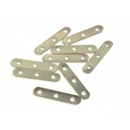 1 spacer charm, 3 holes, 17 mm - silver-coloured