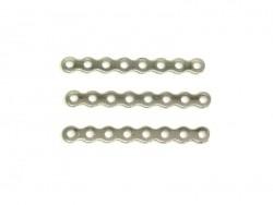 1 Zwischenstückanhänger mit 8 Löchern, 28 mm - silberfarben