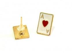 Acheter Boucles d'oreilles As de coeur - doré - 4,99€ en ligne sur La Petite Epicerie - 100% Loisirs créatifs