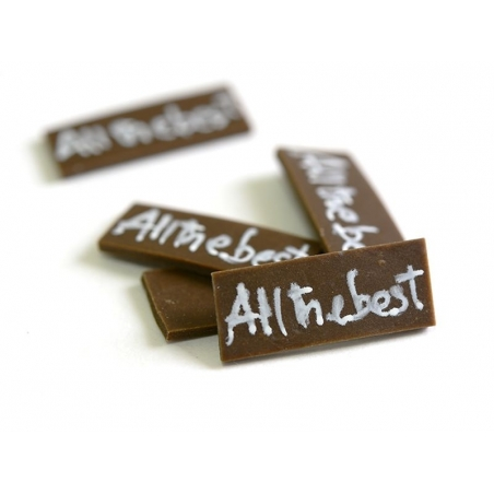 """1 """"All the best"""" chocolate decoration"""