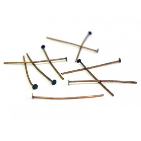 Acheter 10 clous cuivrés à tête plate - 30 mm - 1,09€ en ligne sur La Petite Epicerie - Loisirs créatifs
