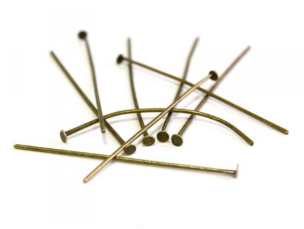 Acheter 10 clous couleur bronze à tête plate - 40 mm - 1,09€ en ligne sur La Petite Epicerie - Loisirs créatifs