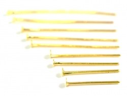 900 pins - gold-coloured head pins - 9 different sizes