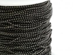 Acheter Chaine bille 1,5 mm noir métallisé x 20 cm - 0,39€ en ligne sur La Petite Epicerie - 100% Loisirs créatifs