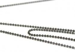 1m chaine bille noir métallisé - 1,5 mm