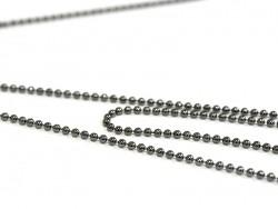 1m chaine bille noir métallisé - 1,5 mm  - 1