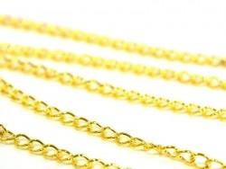 1m chaine gourmette 5 mm - dorée