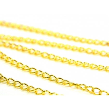 1 m of curb chain, 5 mm - golden