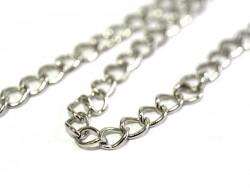 1 m of curb chain, 8 mm - dark silver
