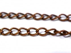 1 m of curb chain, 5 mm - copper