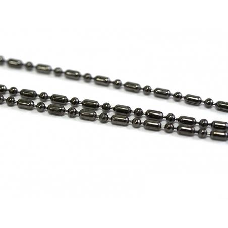 Acheter Chaîne bille maille alternée 1,5 mm noir métallisé x 20 cm - 0,39€ en ligne sur La Petite Epicerie - Loisirs créatifs