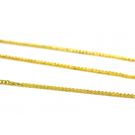 1 m of gold-coloured curb chain - 1 mm