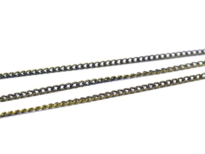 1 m of bronze-coloured curb chain - 1 mm