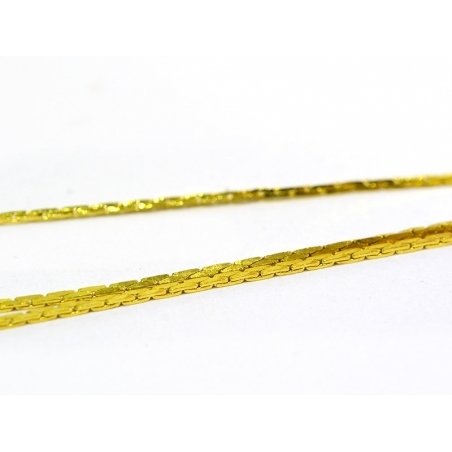 1 m of golden snake chain - 0.6 mm