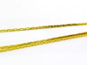 1m chaîne serpentine dorée - 0,6 mm