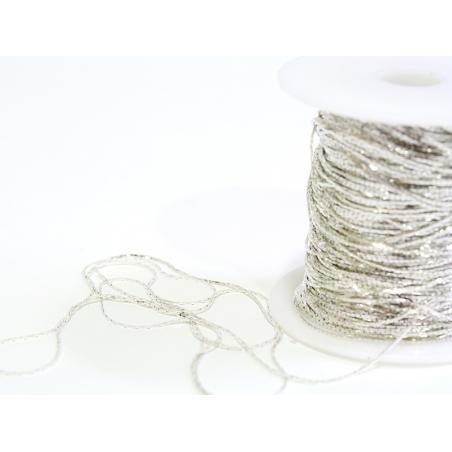1m chaîne serpentine - couleur argent - 0,6 mm