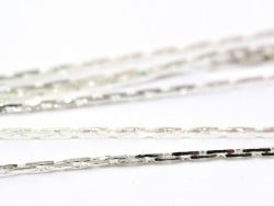 1 m of snake chain - silver-coloured - 0.6 mm
