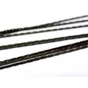 1m chaîne serpentine noir métallisé - 0,6 mm