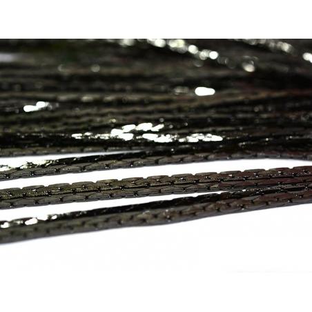 1 m of metallic black snake chain - 0.6 mm