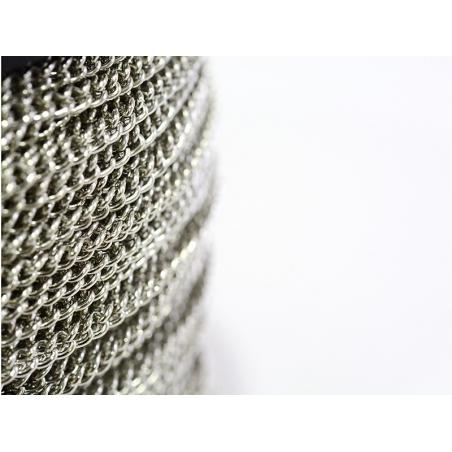 Acheter Chaîne gourmette 3,7 mm couleur argent x 20 cm - 0,49€ en ligne sur La Petite Epicerie - Loisirs créatifs