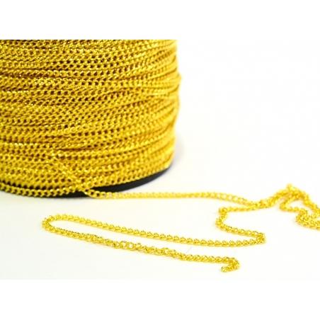 Acheter Chaîne gourmette 2,5 mm doré x 20 cm - 0,49€ en ligne sur La Petite Epicerie - 100% Loisirs créatifs
