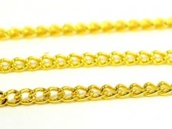1 m of curb chain - golden - 2.5 mm