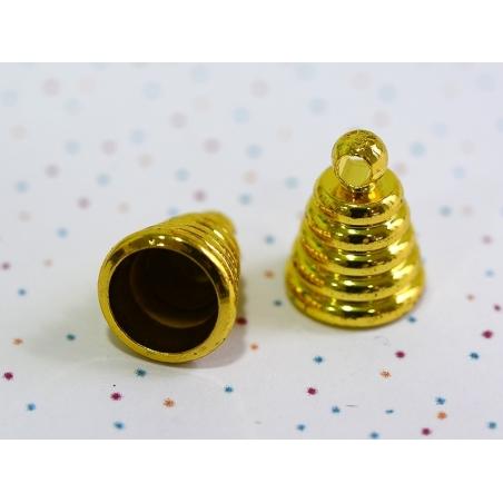 1 pendentif pour goutte en verre - couleur or