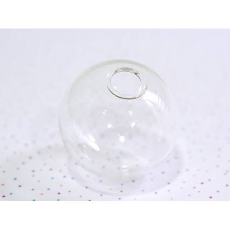 1 dome-shaped glass bottle - 30 x 25 mm