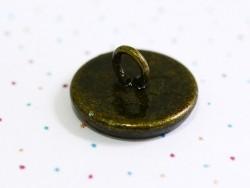 1 pendentif support pour cabochon ou bulle - 10 mm