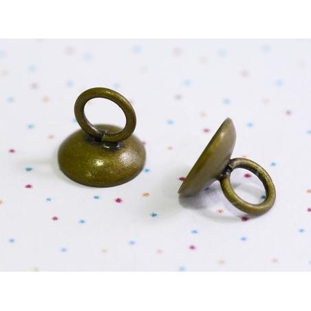 Acheter 1 pendentif pour cloche en verre - couleur bronze - 0,89€ en ligne sur La Petite Epicerie - Loisirs créatifs