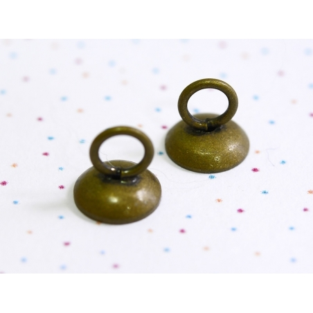 1 pendant for glass domes - bronze-coloured