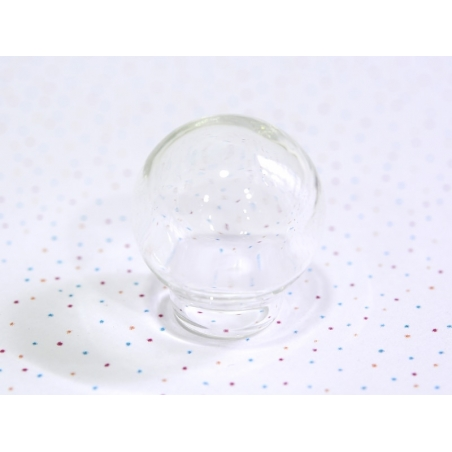 1 dome-shaped glass bottle - 20 x 22 mm