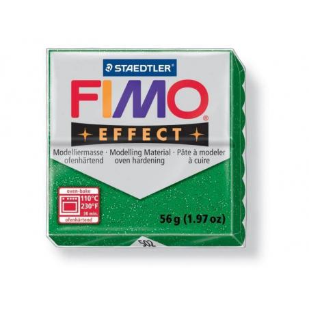 Pâte Fimo EFFECT Pailletée Vert 502