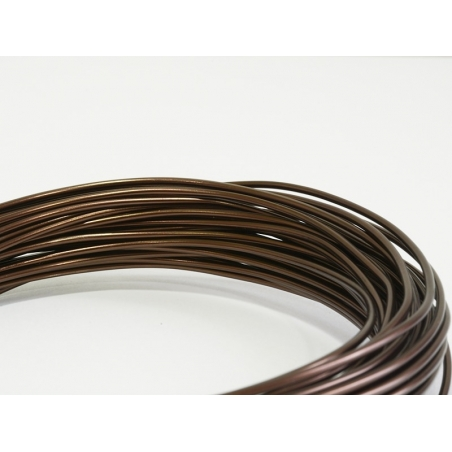 10 m of aluminium wire - brown