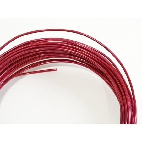 10 m de fil aluminium - rose fushia  - 2
