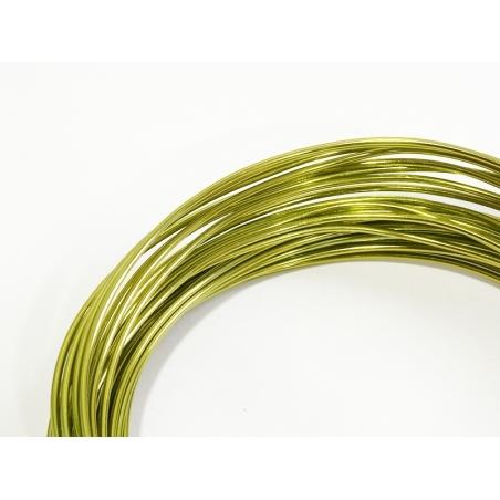 10 m de fil aluminium - vert clair  - 2