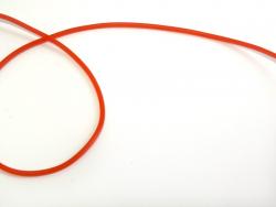 1 Scoubidouband aus Vollgummi - rot, halbdurchsichtig