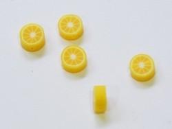 20 perles citron en pâte fimo - modelage
