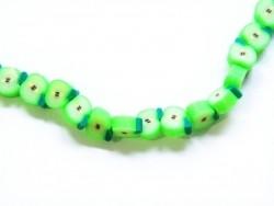 20 green apple beads